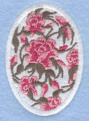 Embroidery Design: Easter egg applique medium rose1.91w X 2.74h