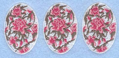 Embroidery Design: Three eggs rose3.87w X 1.78h