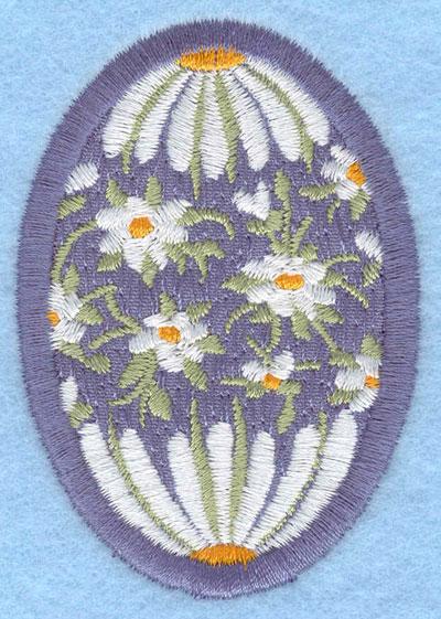 Embroidery Design: Easter egg applique medium daisy1.91w X 2.74h