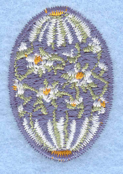 Embroidery Design: Easter egg mini daisy1.06w X 1.56h