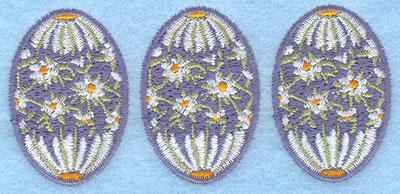 Embroidery Design: Three eggs daisy3.87w X 1.78h