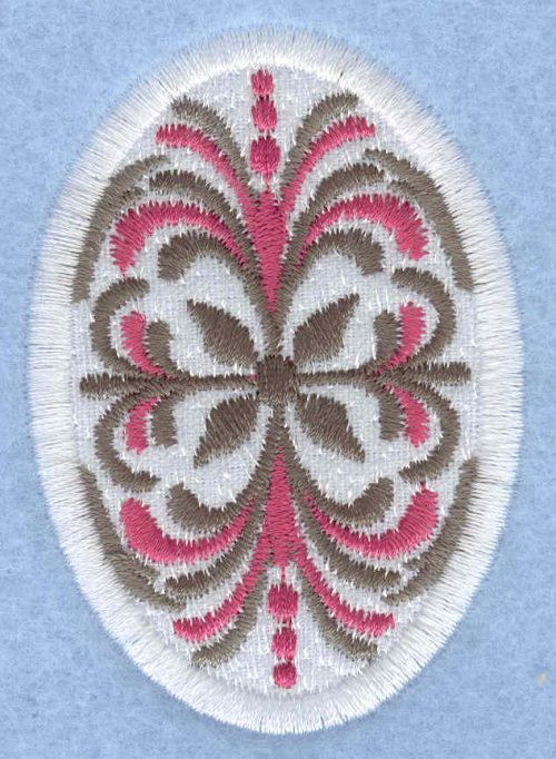 Embroidery Design: Easter egg applique medium pattern1.91w X 2.74h