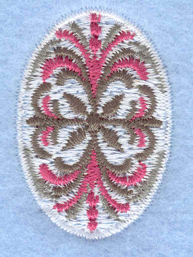 Embroidery Design: Easter egg mini pattern1.06w X 1.58h