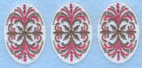 Embroidery Design: Three egg pattern3.87w X 1.79h