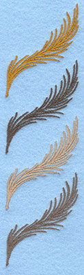Embroidery Design: Four feathers1.87w X 6.70h
