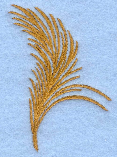 Embroidery Design: Small feather2.27w X 3.10h
