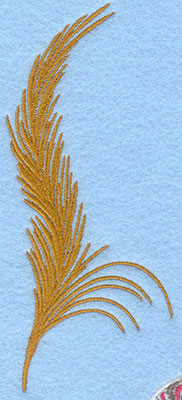 Embroidery Design: Large feather 2.59w X 6.05h