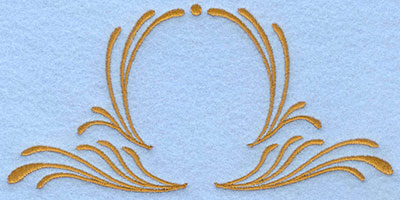 Embroidery Design: Two sided swirls large6.12w X 2.98h