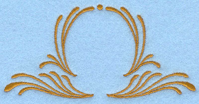 Embroidery Design: Two sided swirls small4.47w X 2.18h