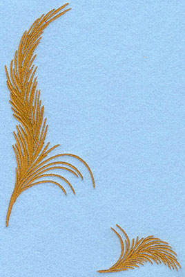 Embroidery Design: Two feathers large and small4.93w X 7.00h