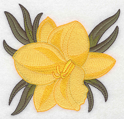 Embroidery Design: Daffodil large 5.00w X 4.82h