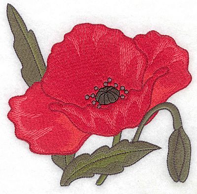 Embroidery Design: Poppy large 4.94w X 5.00h