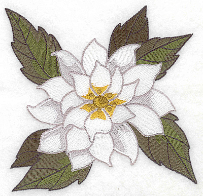 Embroidery Design: Poinsetta large 4.98w X 4.91h