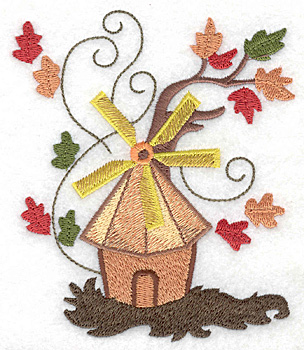 Embroidery Design: Windmill large 4.24w X 4.97h