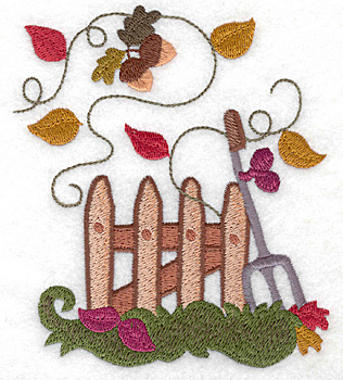 Embroidery Design: Picket fence large 4.36w X 4.95h