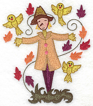 Embroidery Design: Scarecrow large 4.23w X 4.97h