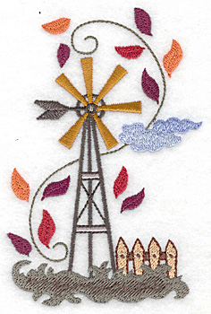 Embroidery Design: Weather vane large 3.29w X 4.98h