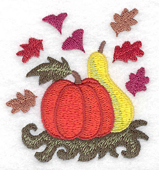 Embroidery Design: Pumpkin and gourd 2.80w X 2.99h