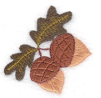 Embroidery Design: Acorns 1.93w X 1.97h