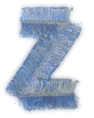"Embroidery Design: Fringe Block Letter Z2"" x 2.78"""