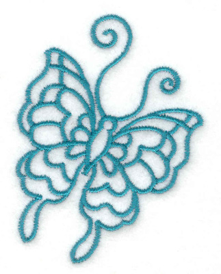 Embroidery Design: Butterfly C  2.24w X 3.01h