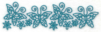 Embroidery Design: Row of butterflies 5.46w X 1.61h