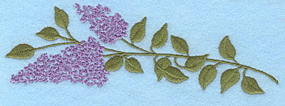 "Embroidery Design: Lilac bloom D 6.00""w X 1.98""h"