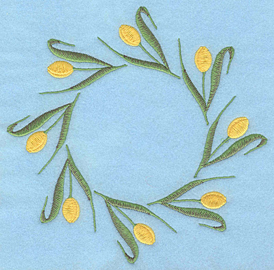"Embroidery Design: Tulip circle large 7.00""w X 7.00""h"