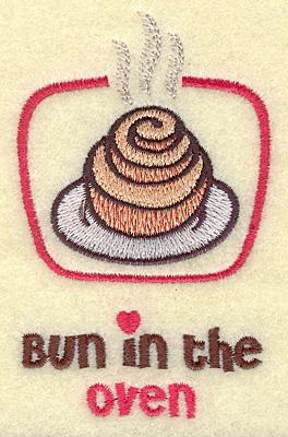 Embroidery Design: Bun in the oven small 2.42w X 3.89h