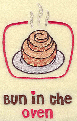 Embroidery Design: Bun in the oven large 4.25w X 6.92h