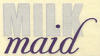 Embroidery Design: Milk maid large  6.96w X 3.77h