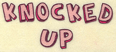 Embroidery Design: Knocked up large 6.97w X 2.91h