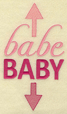 Embroidery Design: Babe baby large 3.92w X 6.99h