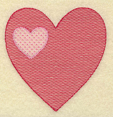 Embroidery Design: Double heart small 3.44w X 3.51h