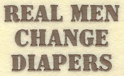 Embroidery Design: Real men diapers 3.89w X 2.27h