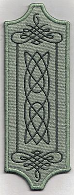 Embroidery Design: Bookmark 104 Celtic flourishes6.86w X 2.51h