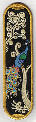 Embroidery Design: Bookmark 106 peacock design6.92w X 1.89h