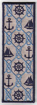Embroidery Design: Bookmark 107 nautical6.94w X 2.38h