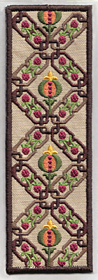 Embroidery Design: Bookmark 108 chainlinks with fruite 6.77w X 2.28h