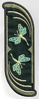 Embroidery Design: Bookmark 110 fairies 6.77w X 2.56h
