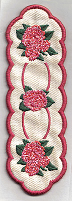Embroidery Design: Bookmark 111 roses6.72w X 2.23h