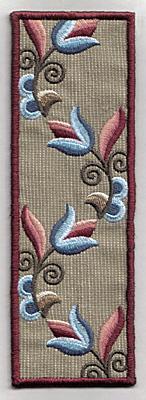 Embroidery Design: Bookmark 112 graphic tulip design6.86w X 2.37h