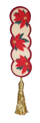 Embroidery Design: Bookmark 202 Poinsettas  2.09w X 6.68h