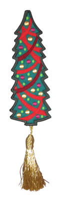 Embroidery Design: Bookmark 208 Christmas tree2.57w X 6.68h