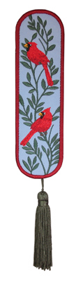 Embroidery Design: Bookmark 210 Cardinals2.04w X 6.81h