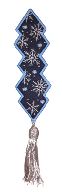 Embroidery Design: Bookmark 211 Snowflakes2.28w X 6.72h