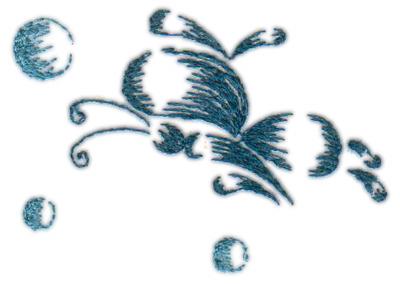 "Embroidery Design: Butterflies & Bubbles 22.90"" x 2.07"""