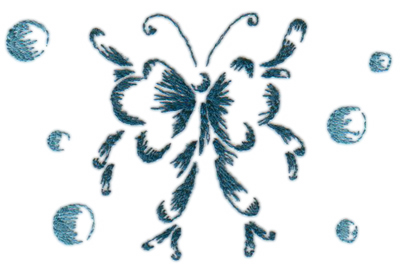 "Embroidery Design: Butterflies & Bubbles 44.25"" x 2.76"""