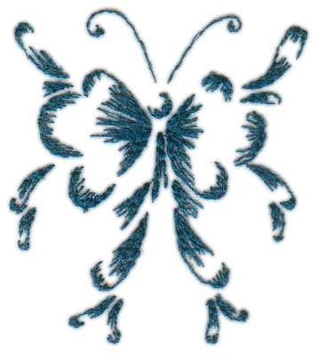 """Embroidery Design: Butterfly (Small)2.42"""" x 2.76"""""""