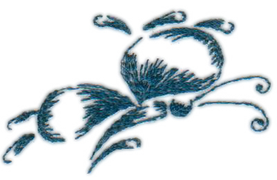 """Embroidery Design: Butterfly 92.47"""" x 1.56"""""""